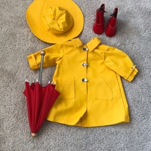 Vintage/Molly American Girl Doll Raincoat outfit